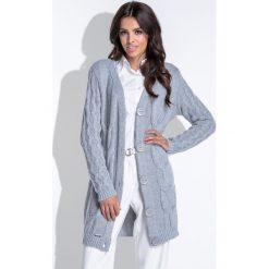 fcca2da0175b30 sweter kardigan - zobacz wybrane produkty. Długi kardigan z warkoczami  fb426. Kardigany damskie Fobya. Za 169.00 zł.