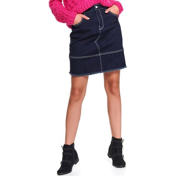 Jeansowa spodnica z kieszeniami