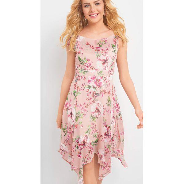 0815f7f8f7 Asymetryczna sukienka w kwiaty - Czerwone sukienki damskie marki ...