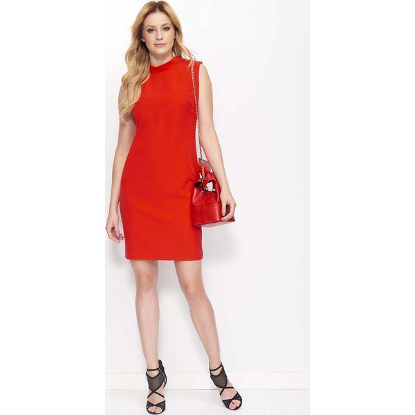 e1c9d5dca1897a Czerwona Klasyczna Sukienka z Wycięciem na Plecach - Czerwone ...