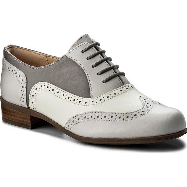 dd28d78f41f7 Oxfordy CLARKS - Hamble Oak 261324644 Grey Combi Leather - Szare ...