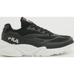 Wyprzedaż czarne buty sportowe męskie Fila, bez zapięcia