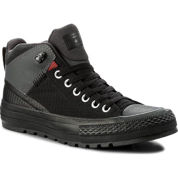 6460d34ce01e5 Trampki CONVERSE - Ctas Street Boot Hi 157474C Black/Terra Red/Almost Black  - Czarne trampki męskie marki Converse, z gumy, eleganckie.