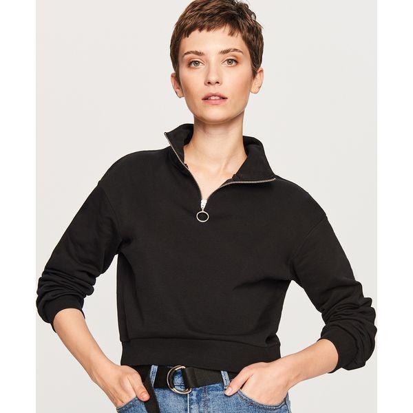 e413e4560 Krótka bluza ze stójką - Czarny - Czarne bluzy damskie Reserved, l ...
