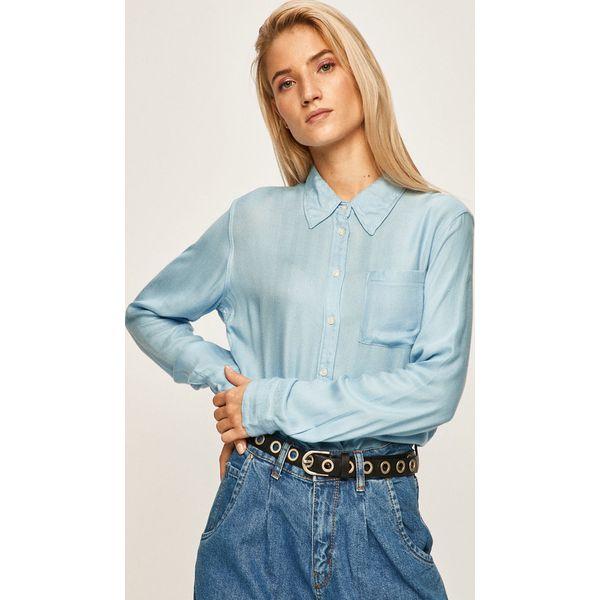 Wyprzedaż niebieskie koszule damskie Wrangler, z długim