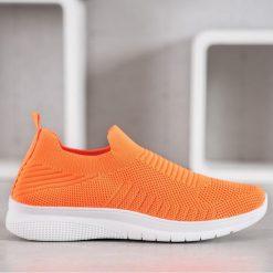 SHELOVET Sportowe Buty Slip On pomarańczowe Brązowe obuwie