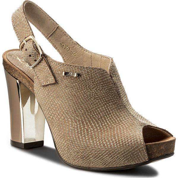357b0c75dbef6 Sandały LIBERO - 4290 149 - Żółte sandały damskie marki Libero, ze ...