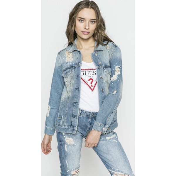 8811186f9128b Guess Jeans - Kurtka Ellie - Kurtki damskie marki Guess Jeans. W ...