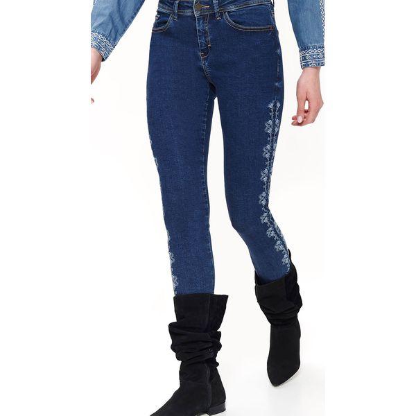 Jeansowe spodnie z haftem