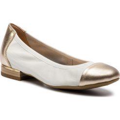 a1109c25 Baleriny CAPRICE - 9-22156-22 White/Gold 107. Balerinki damskie Caprice