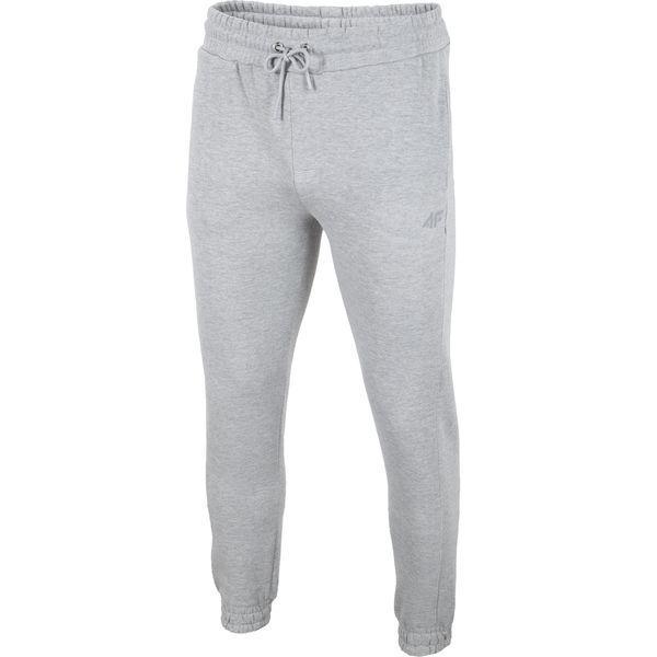 0187b2e84f Spodnie dresowe męskie SPMD001 - chłodny jasny szary melanż ...
