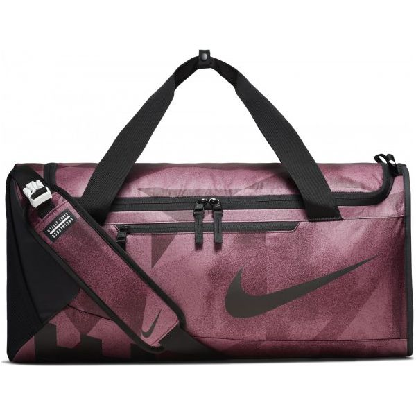 9535064caf905 Nike Torba Treningowa Alpha (Medium) Training Duffel Bag Bordeaux Black -  Czarne torby sportowe męskie marki Nike, w paski, na ramię. Za 215.00 zł.