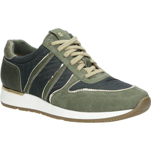 zielone buty sportowe skórzane nessi 17214