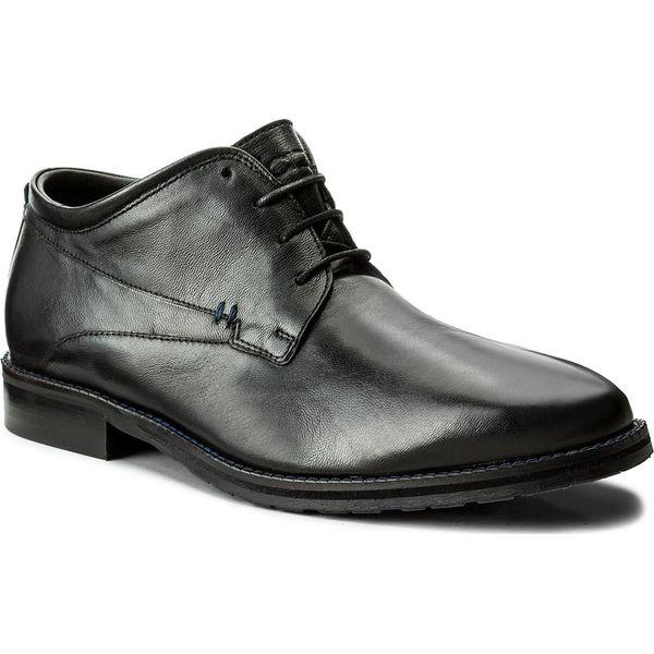 a2705f0ec3696 Półbuty KAZAR - Jack 30385-01-00 Czarny - Czarne buty wizytowe męskie marki  Kazar, ze skóry, na wysokim obcasie. W wyprzedaży za 289.00 zł.