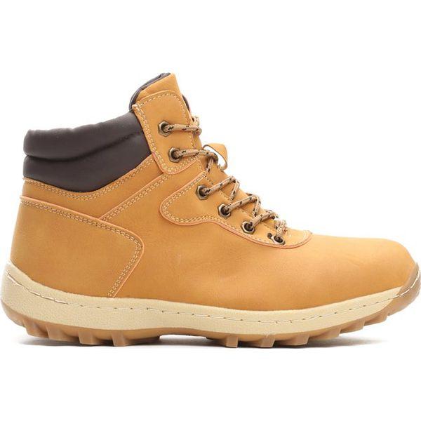 Dodatkowe Camelowe Trapery Strip Away - Brązowe buty zimowe męskie marki VB05
