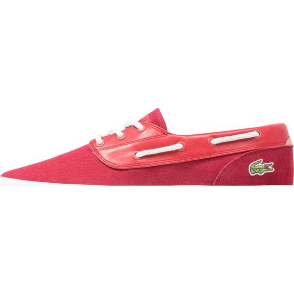 1e65a08905dda Lacoste JOUER DECK Sznurowane sportowe dark red - Czerwone buty ...
