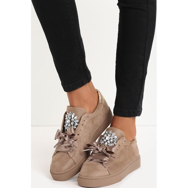 Beżowe Buty Sportowe Noble