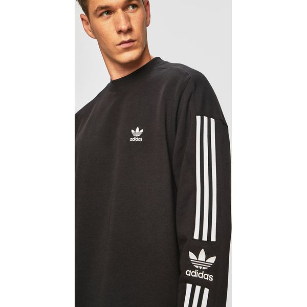 bluza adidas męska czarna bez kaptura
