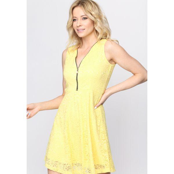 534fbce368 Żółta Sukienka Bluffin  - Żółte sukienki damskie marki Born2be