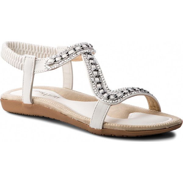 567d3d60 Sandały JENNY FAIRY - WP01-1605-02 Biały 1 - Białe sandały damskie ...