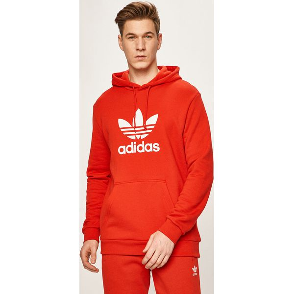 Bluza męska czerwona Adidas Originals w nadruki