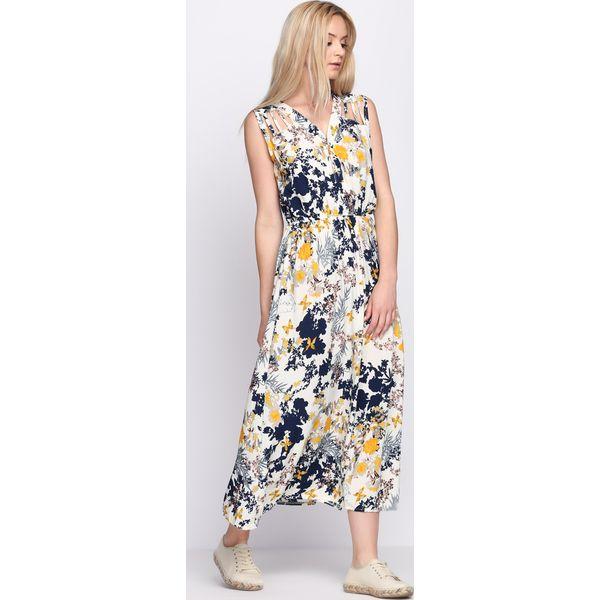 0bc7aae182 Kremowo-Żółta Sukienka Fashion Source - Białe sukienki damskie marki ...