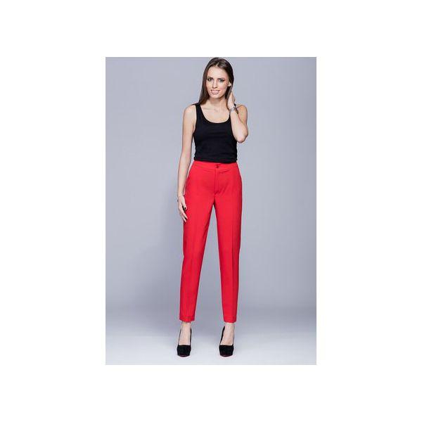 85dc991ba3f8c5 Eleganckie długie spodnie czerwone H022 - Czerwone spodnie materiałowe  damskie Harmony, biznesowe, długie. Za 147.00 zł. - Spodnie materiałowe  damskie ...