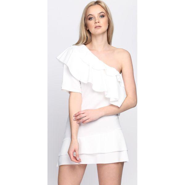 74534a736b Biała Sukienka Whatever - Białe sukienki damskie Born2be