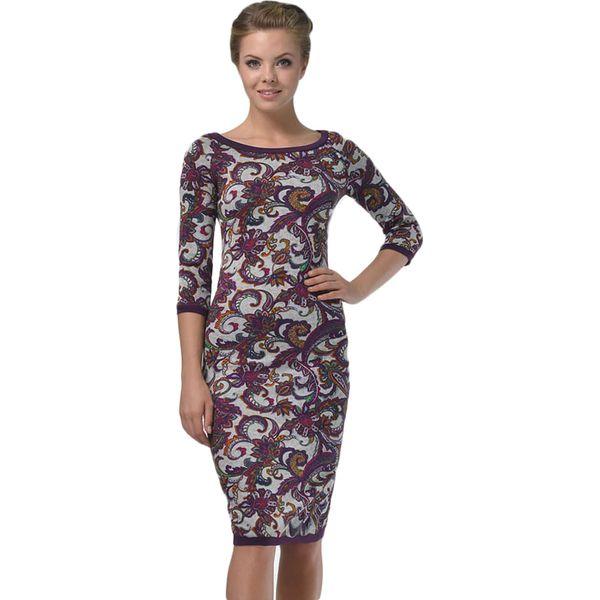672a490e46 Sukienka w kolorze szarym ze wzorem - Szare sukienki damskie marki ...