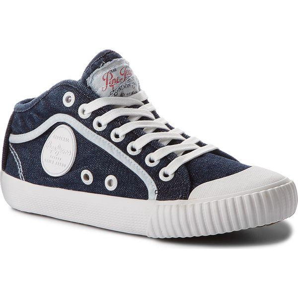 8fe6506db Trampki PEPE JEANS - Industry Jeans PLS30615 Dk Denim 559 - Trampki ...