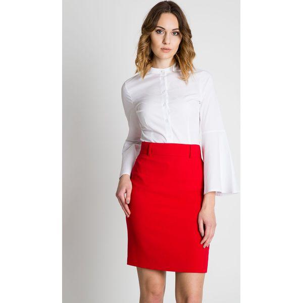 c16de2ee Czerwona klasyczna spódnica BIALCON