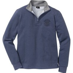 8d88796d4c51 Bluza ze stójką pique Regular Fit bonprix indygo melanż. Bluzy męskie marki  bonprix. Za