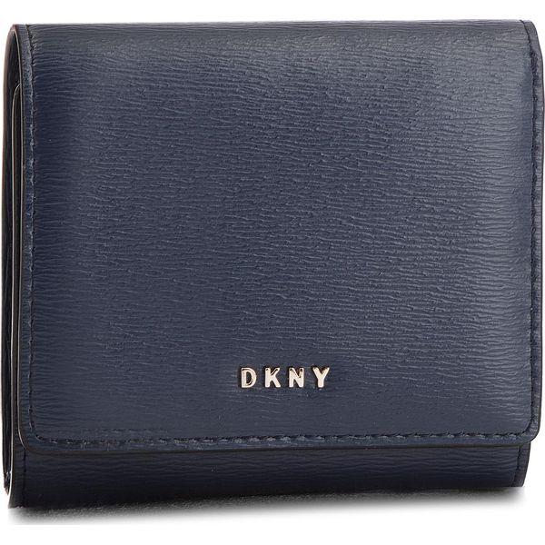 68664b576a238 Mały Portfel Damski DKNY - Bryant Trifld Wallet R7413100 Navy NVY ...