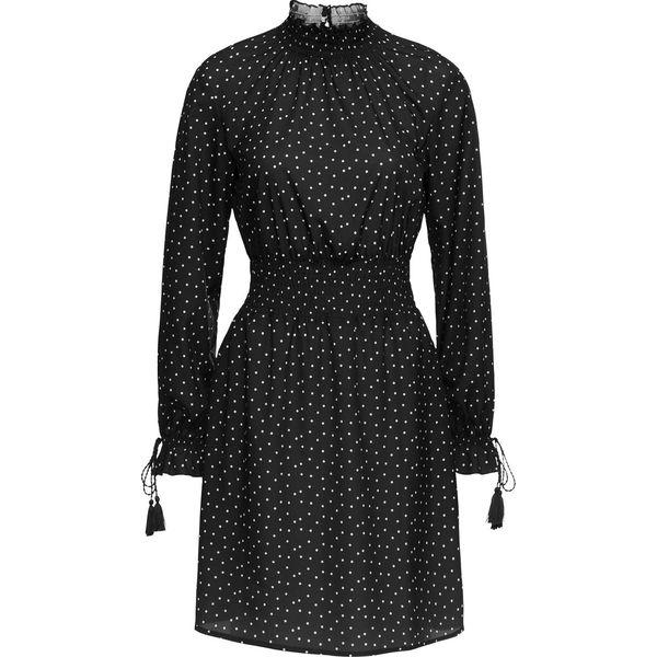 46b3563612 Sukienka z wstawką przeszytą cienkimi gumkami bonprix czarno-biały w ...