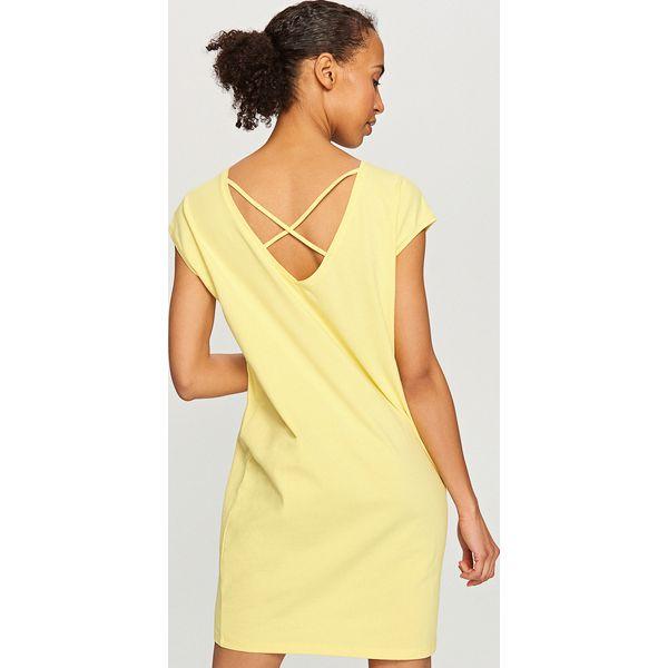 ab246d02d7228 Bawełniana sukienka - Żółty - Żółte sukienki damskie marki Reserved ...