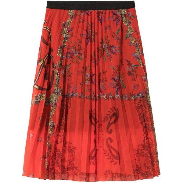 Desigual spódnica damska Fal Andrea 36 czerwony