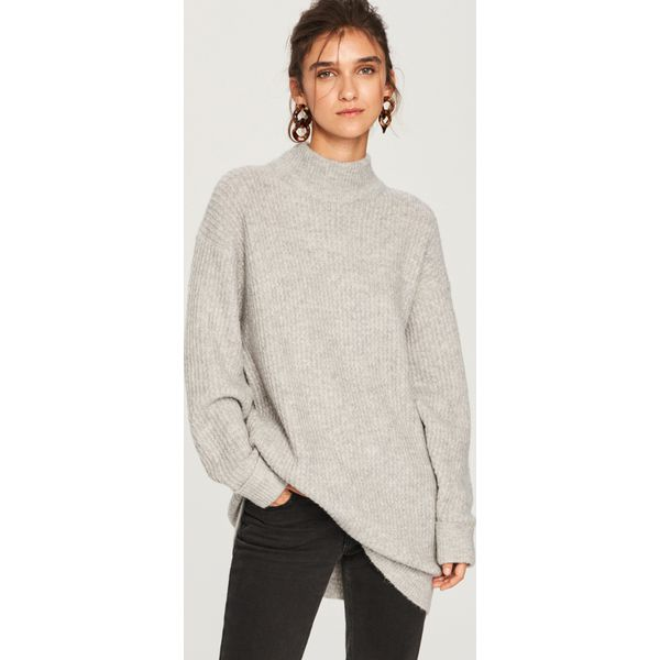 63752e8c369ed5 Sweter z domieszką wełny - Jasny szar - Swetry nierozpinane damskie ...
