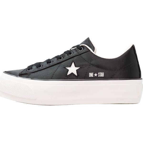 f02f697e3118b Converse ONE STAR PLATFORM Tenisówki i Trampki black/white/egret - Czarne  trampki i tenisówki damskie marki Converse, z materiału. Za 419.00 zł.