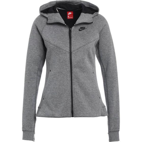 64b5ed35a Nike Sportswear HOODIE Bluza rozpinana gris/noir - Szare bluzy ...
