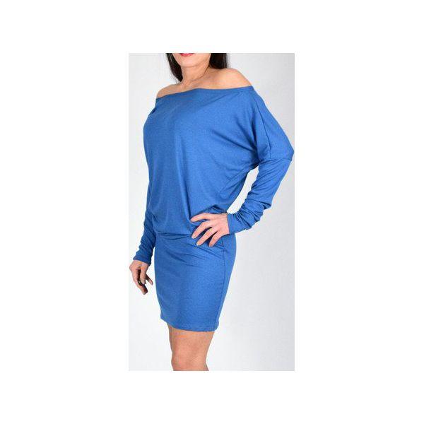 f4f42dbdd2 KATIA - XS - 4XL   dzianinowa sukienka - błękitna - Sukienki damskie ...