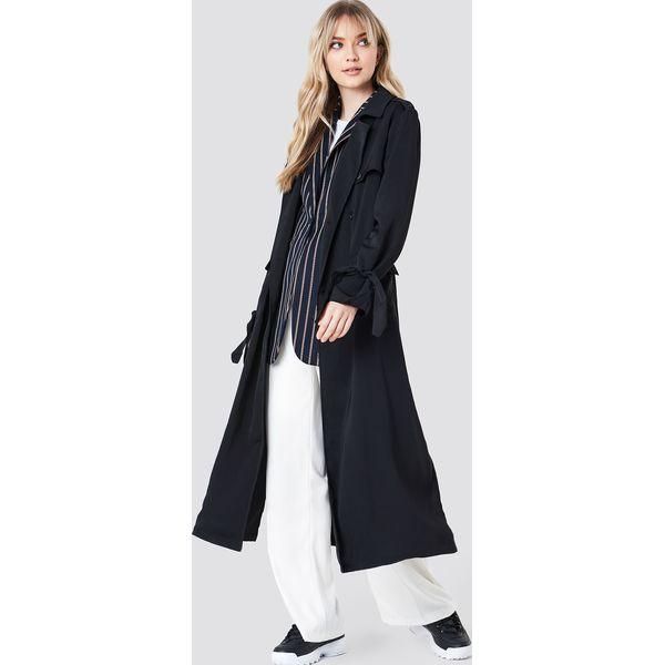 3ed0f1e4a0 NA-KD Classic Trencz - Black - Czarne płaszcze damskie marki NA-KD ...