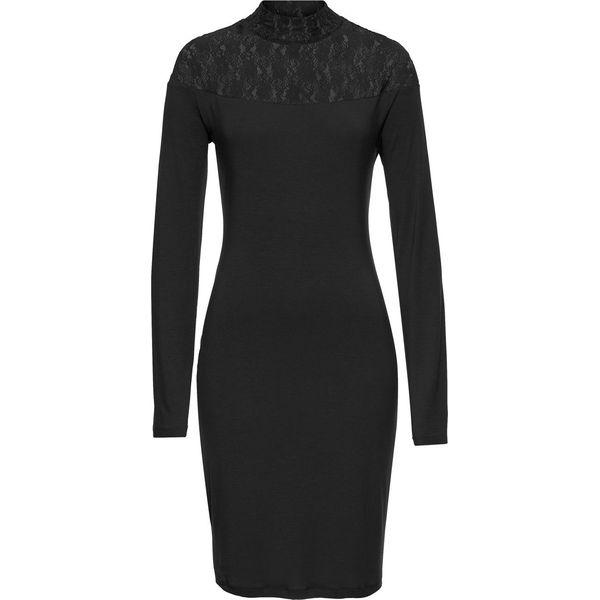 e2bf9ac293 Sukienka z koronkową wstawką bonprix czarny - Czarne sukienki ...