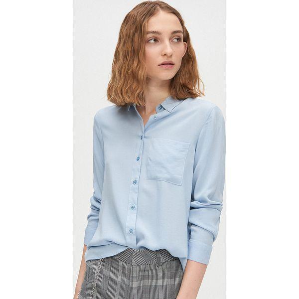 Cropp Cropp Bawełniana koszula z kontrastową kieszenią