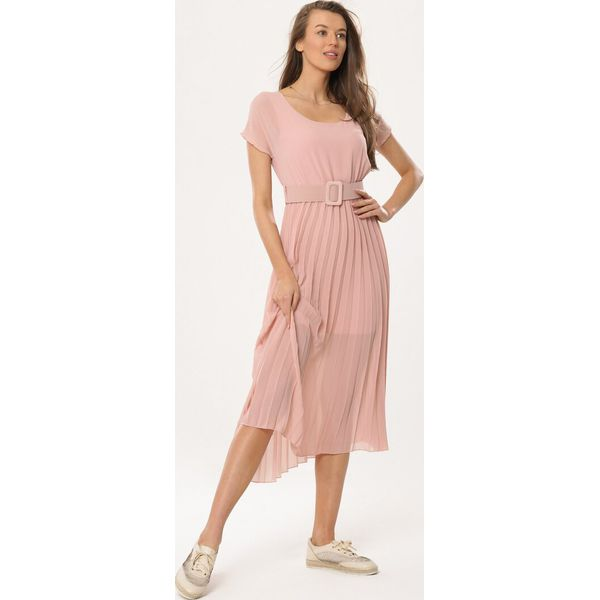 2882584472 Różowa Sukienka Nucleon - Sukienki damskie marki Born2be. Za 99.99 ...
