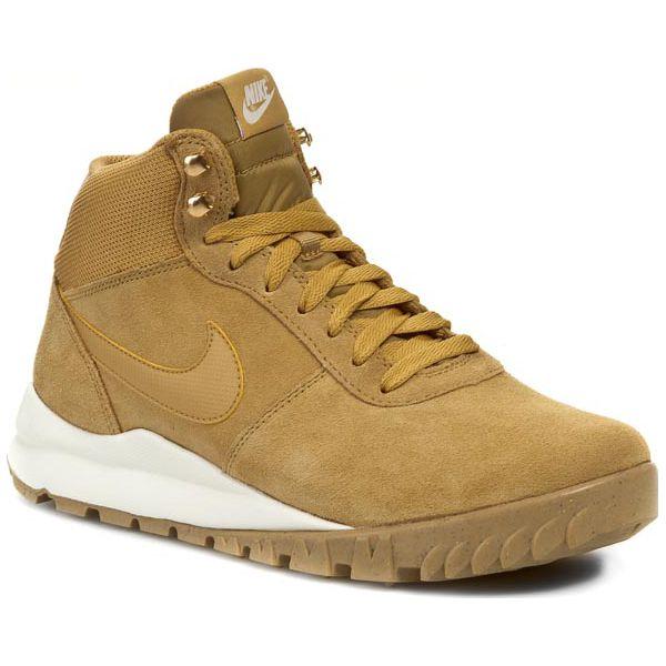 wylot online specjalne wyprzedaże nowe tanie Buty NIKE - Hoodland Suede 654888 727 Haystock/ Light Brown/ Metallic Gold