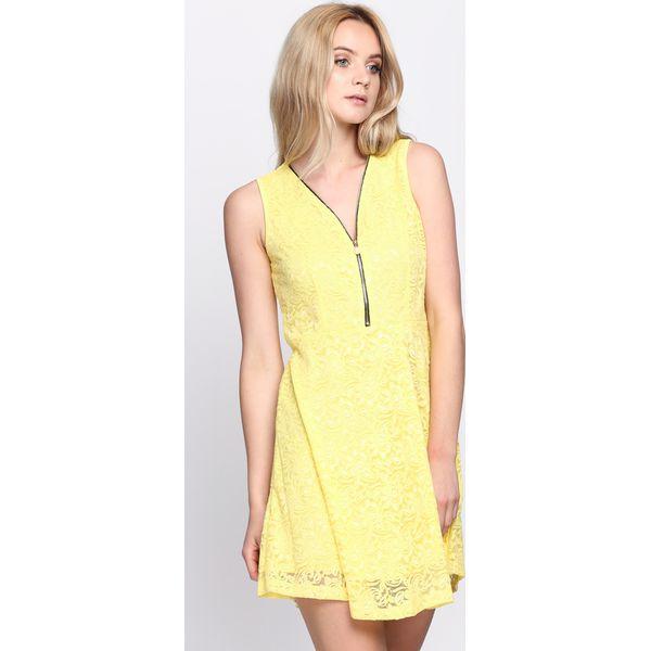 3c696c6b3f Żółta Sukienka Bluffin  - Żółte sukienki damskie marki Born2be