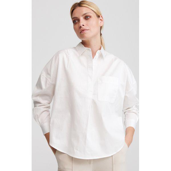 Koszula oversize z bawełny organicznej Biały Białe  Es8R2