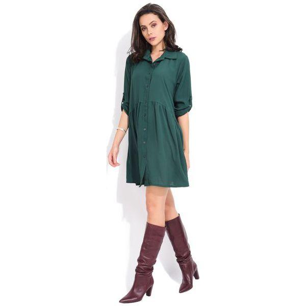 2e4384b199 Fille Du Couturier Sukienka Damska Oriane 38 Zielony - Sukienki damskie  marki Fille Du Couturier. W wyprzedaży za 168.00 zł.