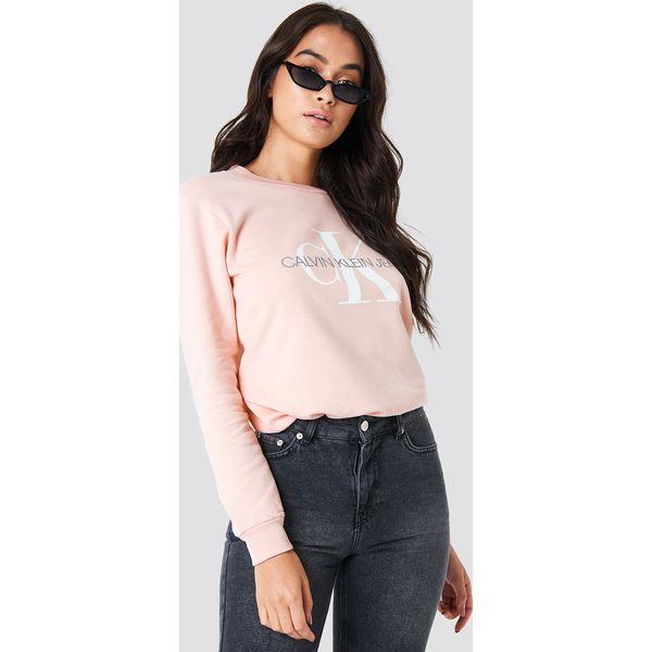 d6b3713da3b72 Calvin Klein Bluza Monogram Logo - Pink - Bluzy damskie marki Calvin ...