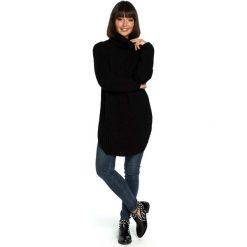 b5305a24f047 Czarny Wygodny Długi Sweter z Golfem. Swetry nierozpinane damskie marki  Molly.pl. Za
